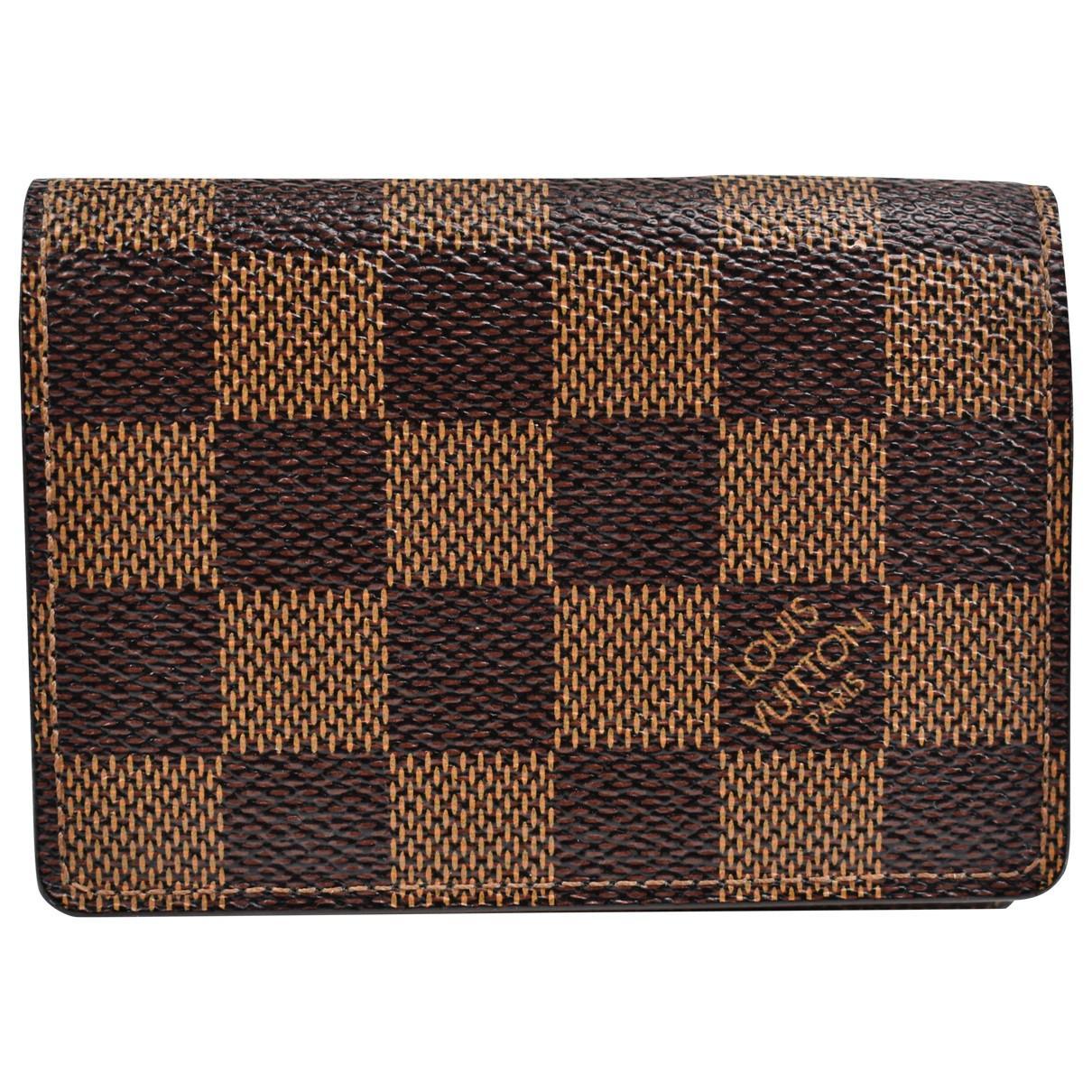 8515b390bb19 Lyst - Portefeuille Marco en cuir Louis Vuitton en coloris Marron