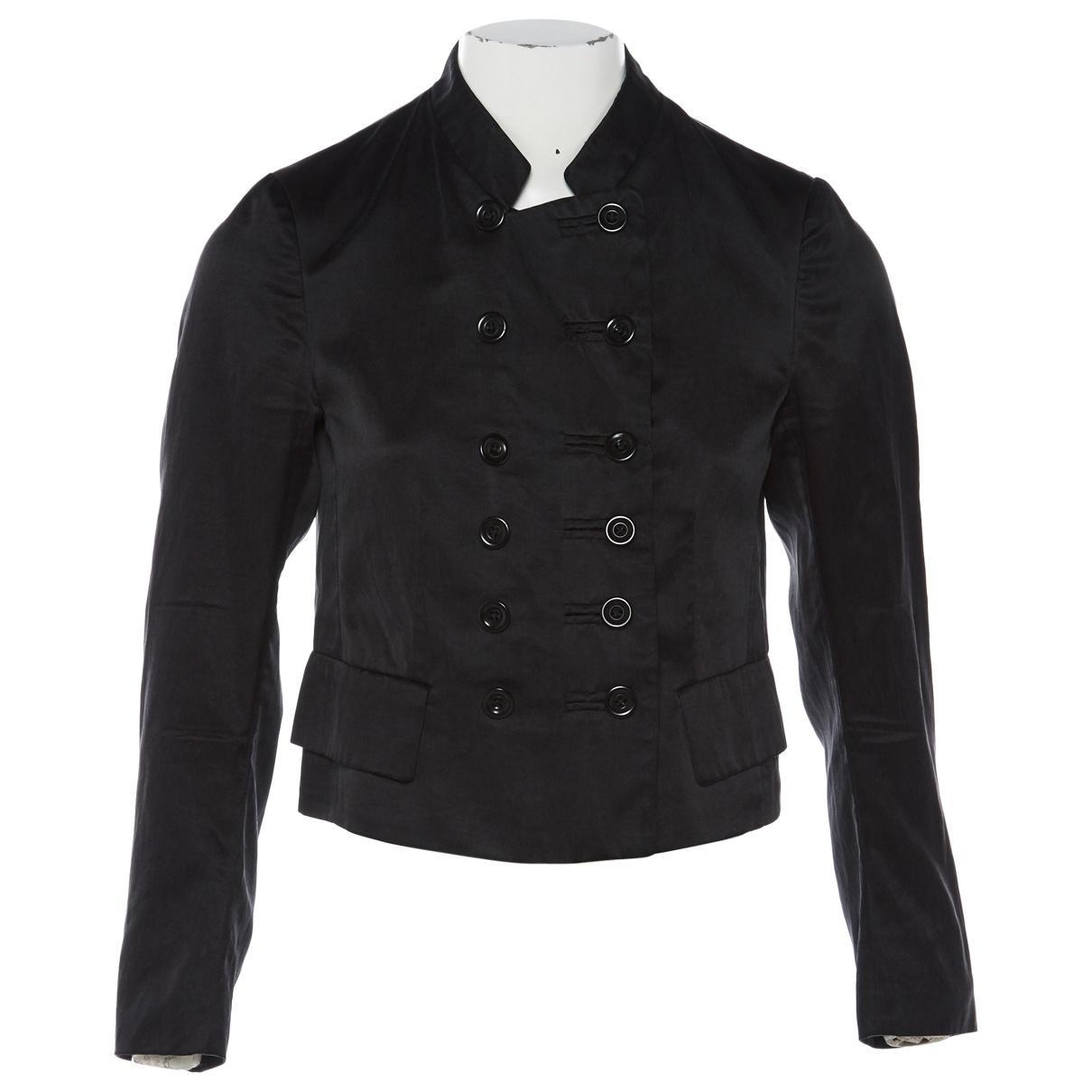 2806a61dd2 Lyst - Dries Van Noten Black Cotton Jacket in Black