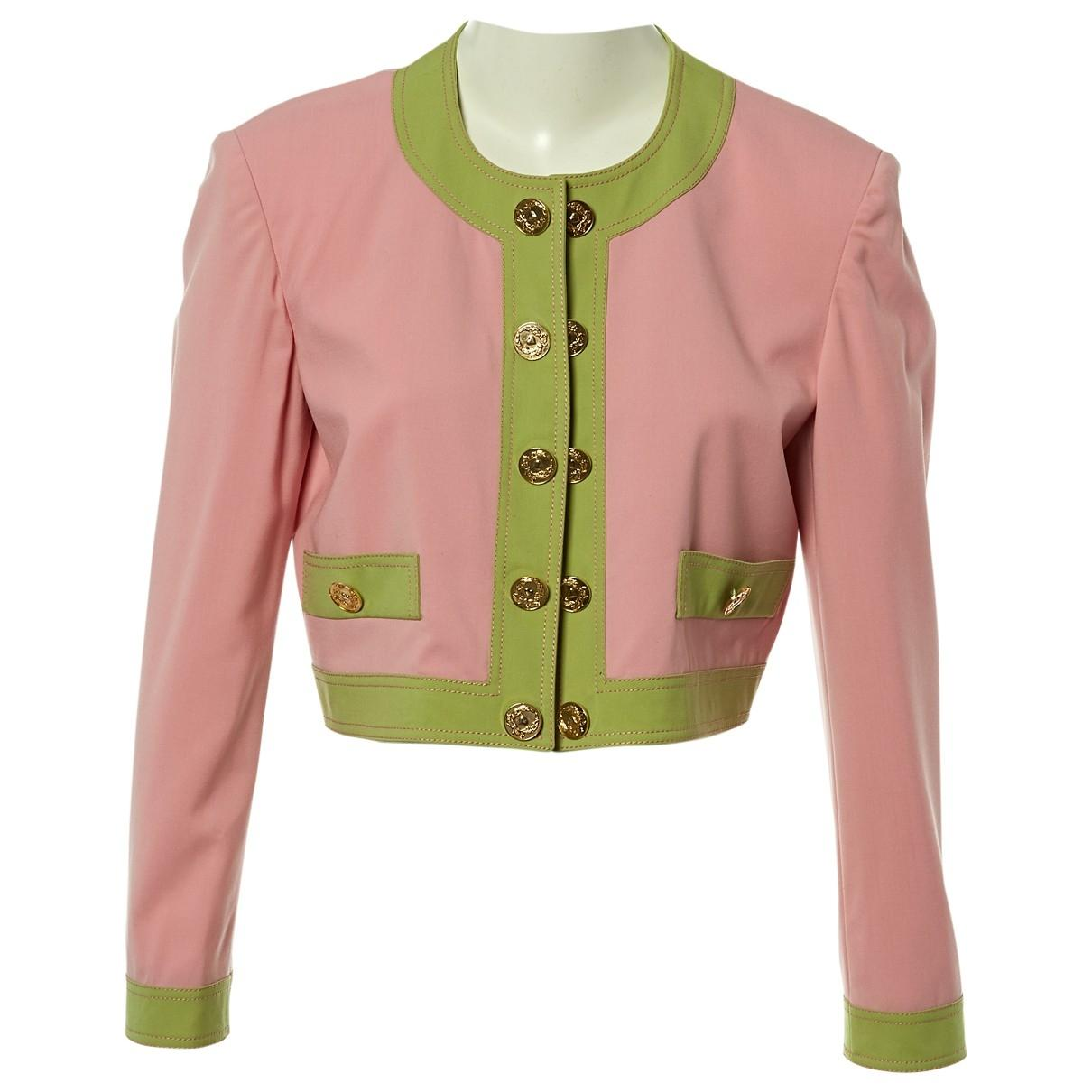4c47278a7 Moschino. Women's Pink Wool Jacket. $195 From Vestiaire Collective