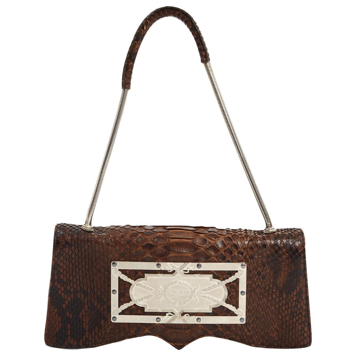 b4f75e3e2a Lyst - Jean Paul Gaultier Brown Python Clutch Bag in Brown