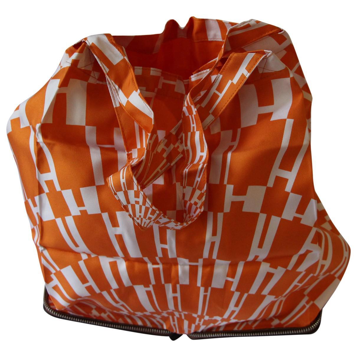 d16f47463456 Hermès Silky Pop Silk Tote in Orange - Lyst