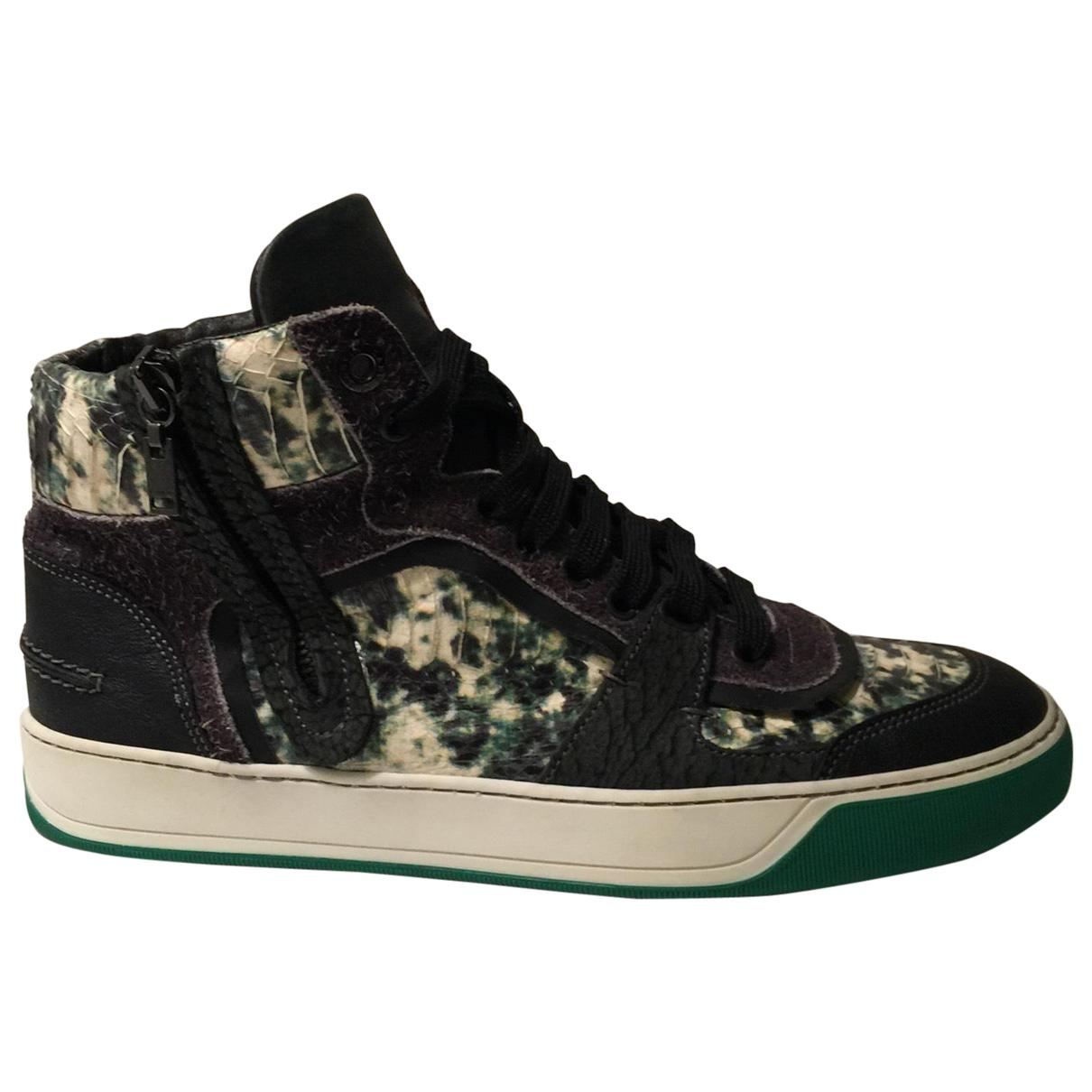 Pre-owned - Python print Leather Trainers Lanvin c9SdmKaOY1