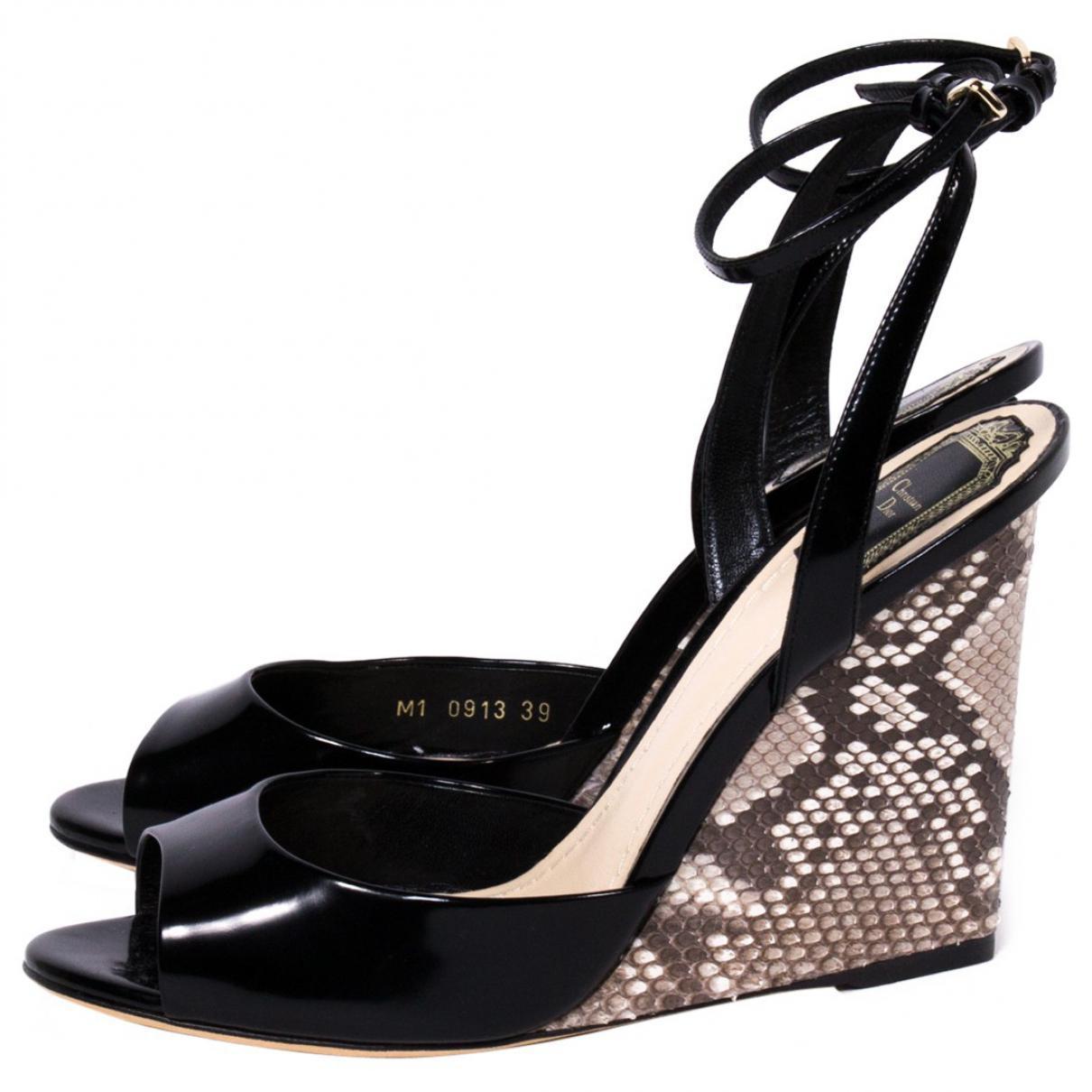 Pre-owned - Python heels Dior XoVxvSyM3