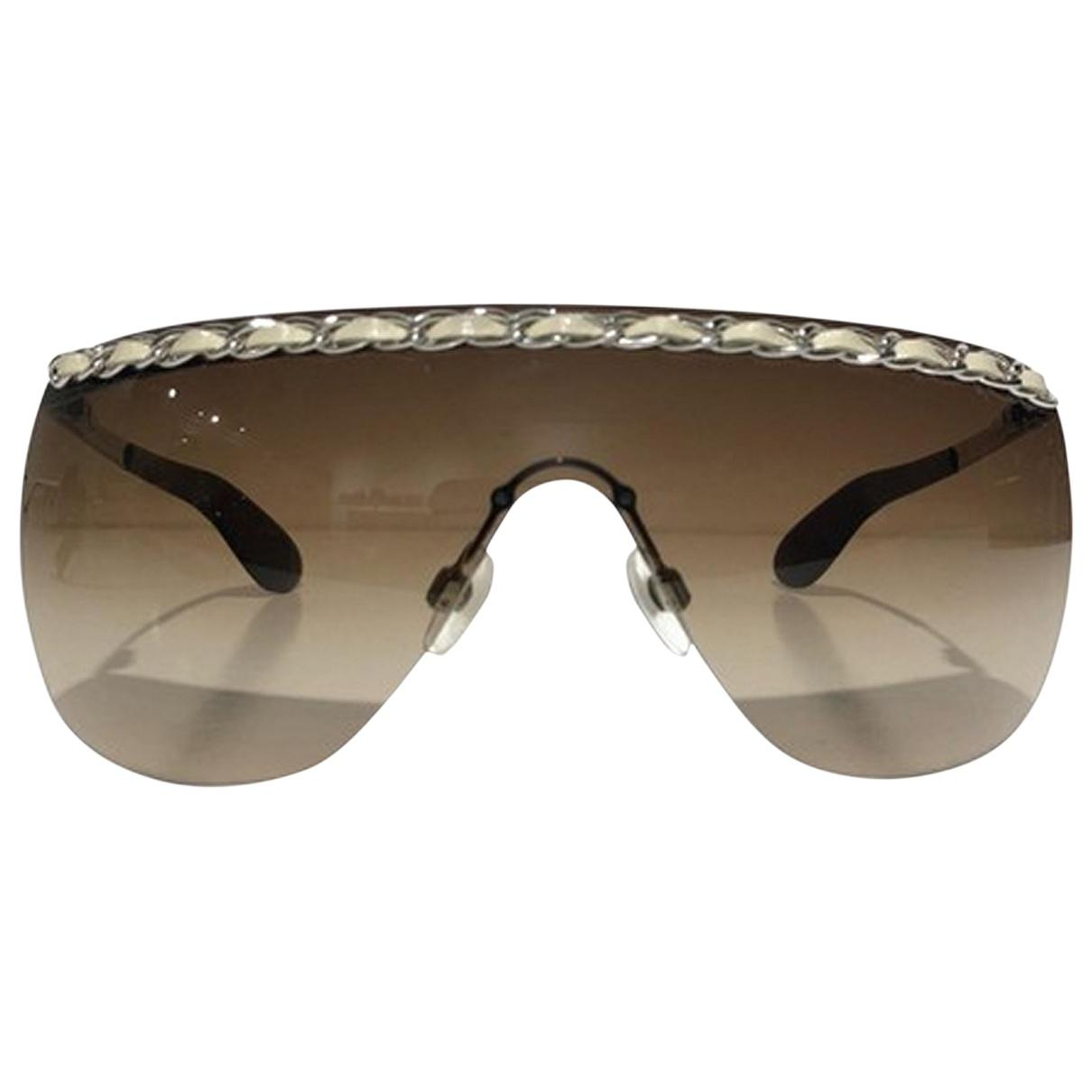 ed05b2940c Chanel Pre-owned Vintage Brown Plastic Sunglasses in Brown - Lyst