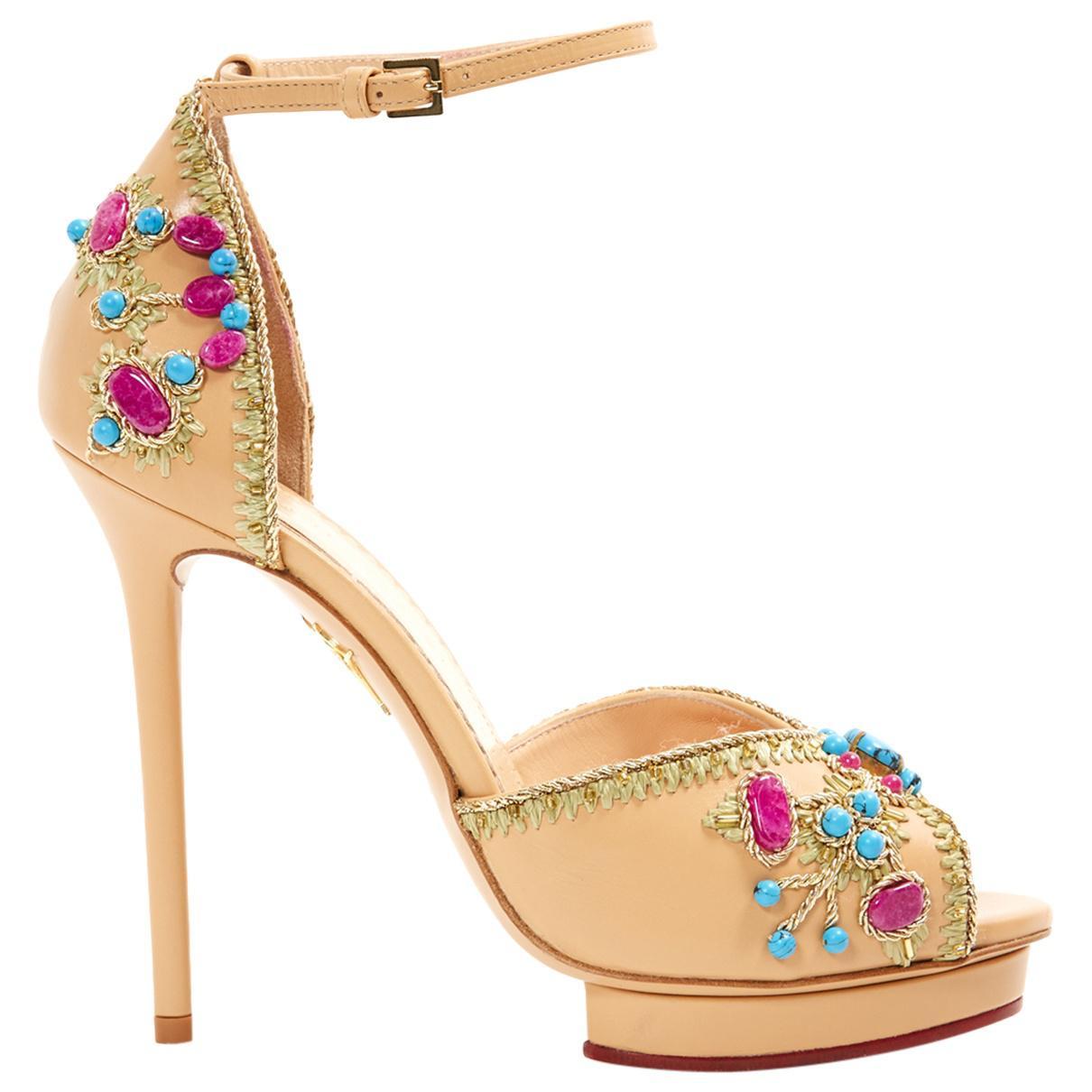 Pre-owned - Leather heels Charlotte Olympia qTkFu8f