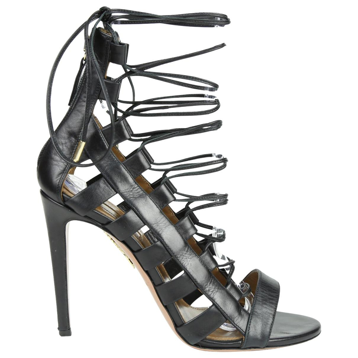 Pre-owned - Leather heels Aquazzura JuuP2