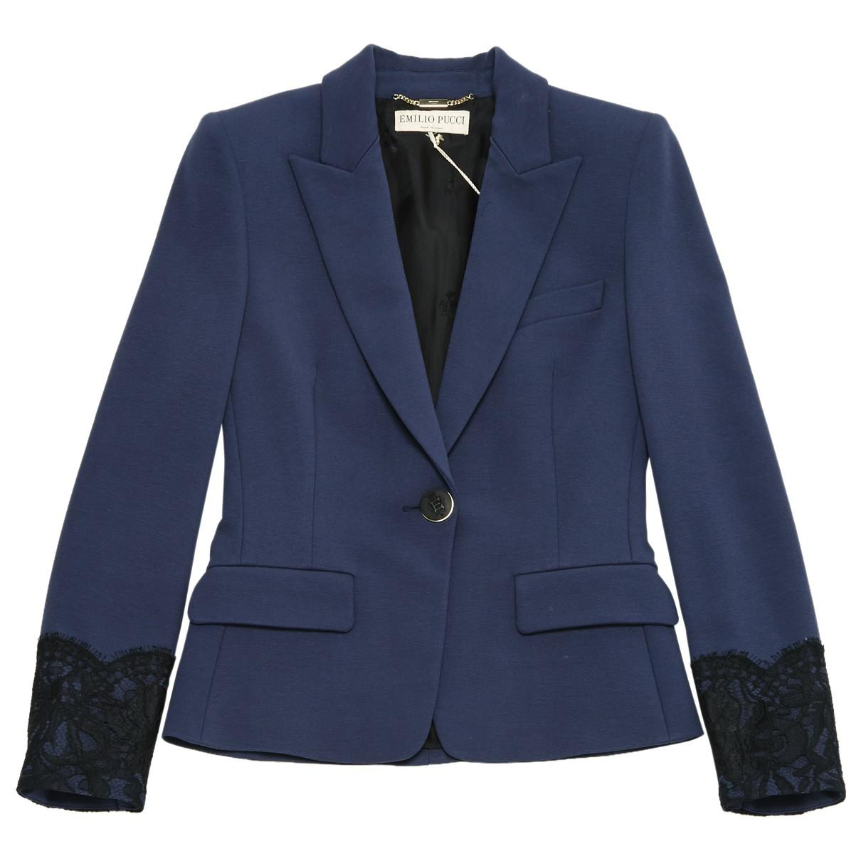e2097a5c6b94 Emilio Pucci - Blue Green Viscose Jacket - Lyst. View fullscreen