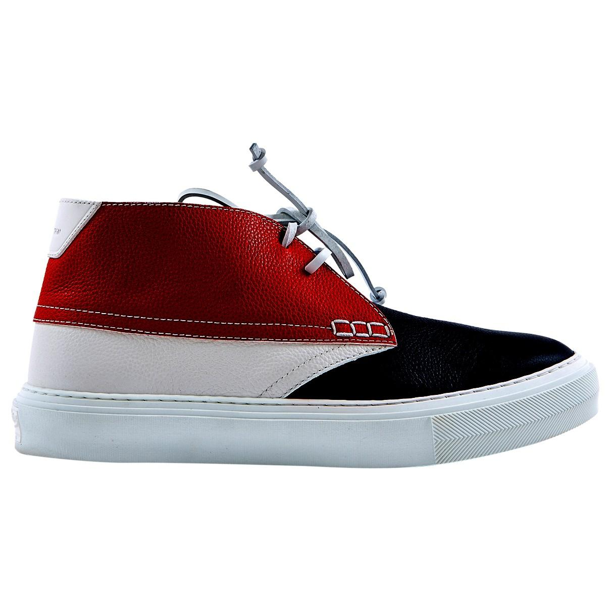 12e3b916ae0 Louis Vuitton. Men s Red Pre-owned Multicolour Leather Trainers. £344 From Vestiaire  Collective