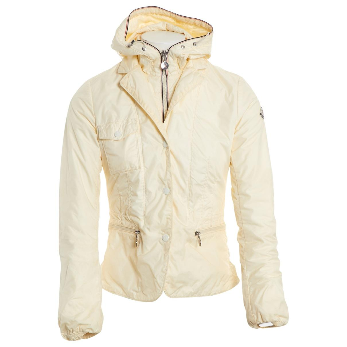9587aa1ad Lyst - Moncler Ecru Synthetic Jacket in Natural
