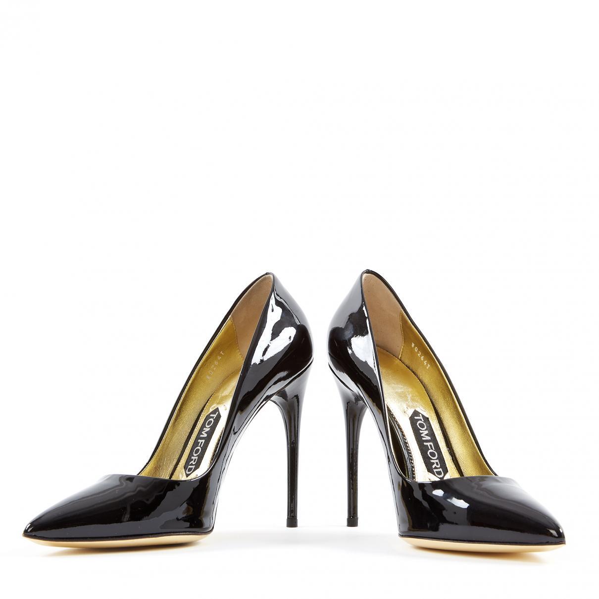 ddba9d7fb4b Tom Ford - Black Patent Leather Heels - Lyst. View fullscreen
