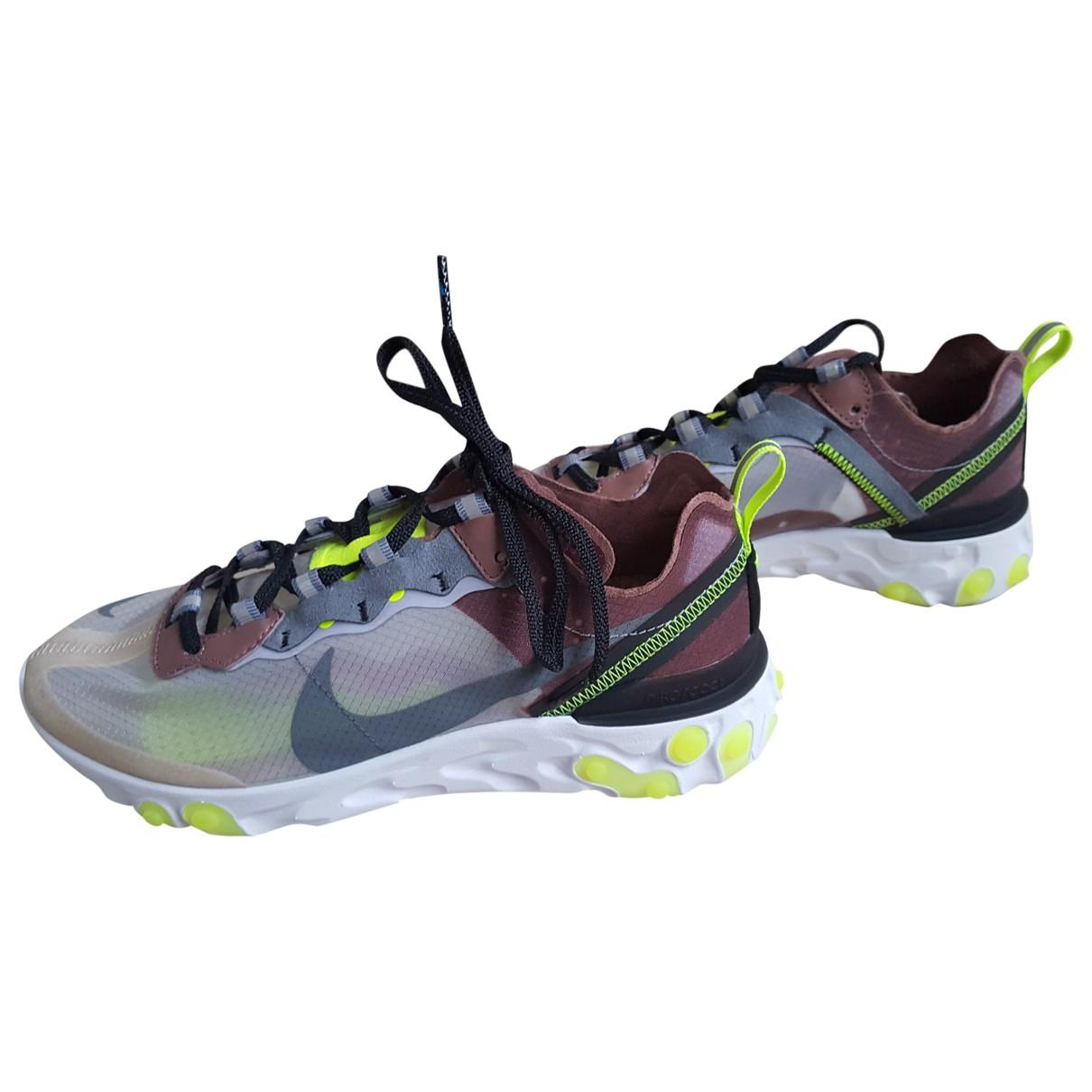 promo code 805bd aba0f Nike. Women s Gray React Element 87 Grey Polyester Trainers