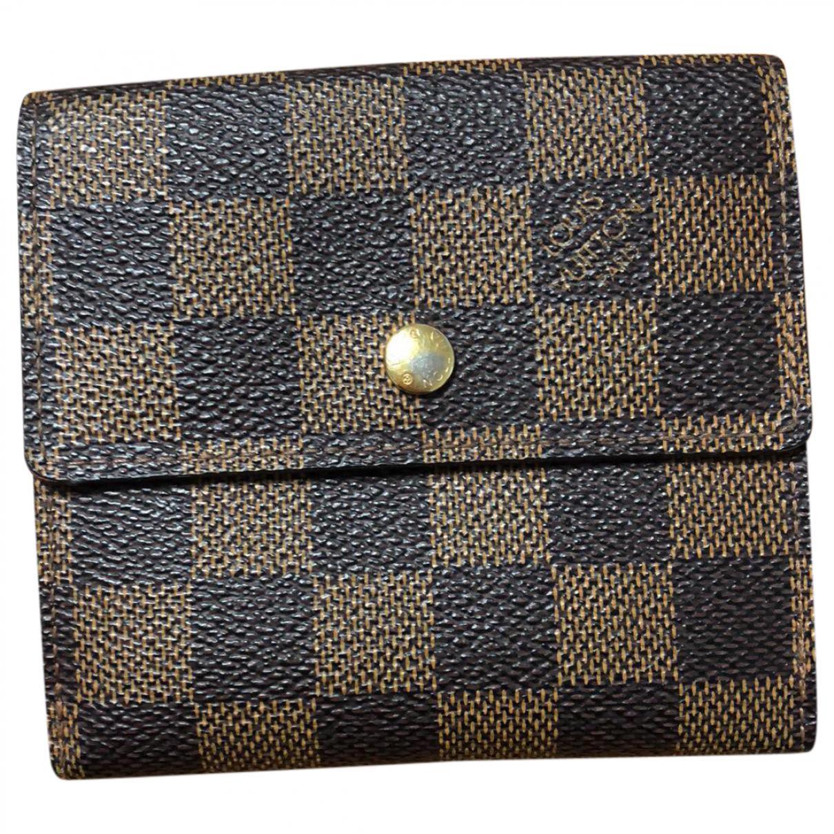 5d4a29d327e7 Lyst - Porte-cartes en cuir Louis Vuitton en coloris Marron