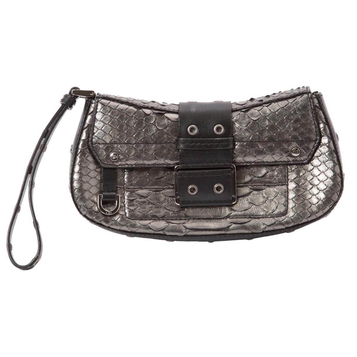 Dior Python Clutch Bag in Metallic - Lyst 728667d7060b0