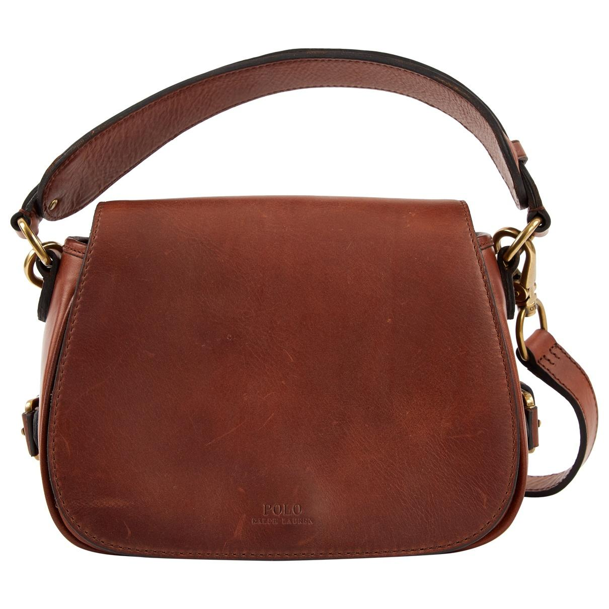 a2626981a5 Polo Ralph Lauren Brown Leather Handbag in Brown - Lyst