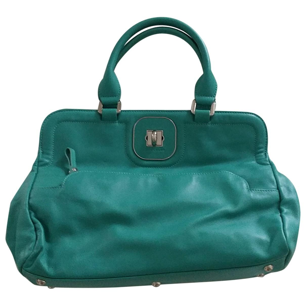 Lyst - Longchamp Pre-owned Gatsby Turquoise Leather Handbags in Blue ad7745610d747