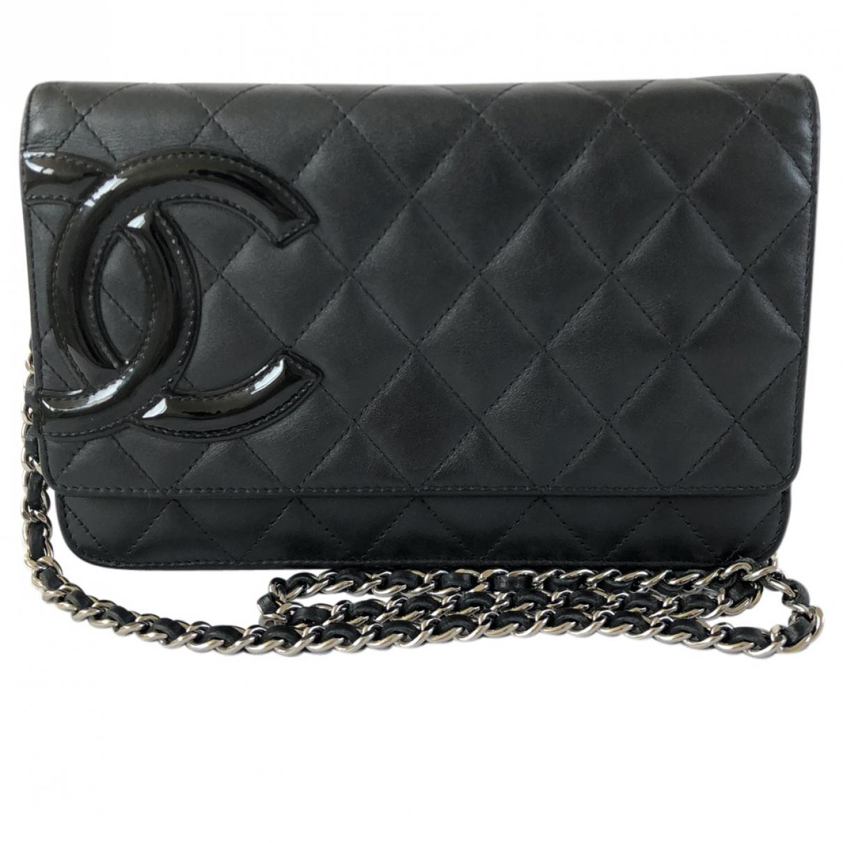 f4b66d69fdc6 Chanel Cambon Leather Clutch Bag in Black - Lyst