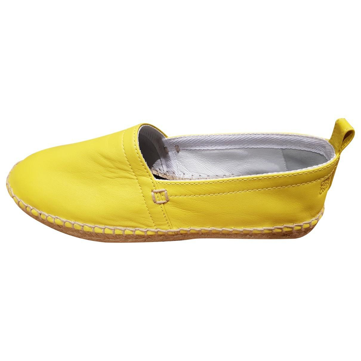 Pre-owned - Leather flats Loewe