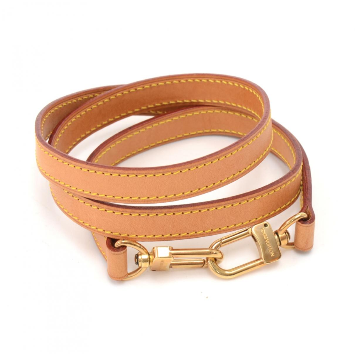 d006faf64357 Lyst - Louis Vuitton Beige Leather Bag Charms in Natural