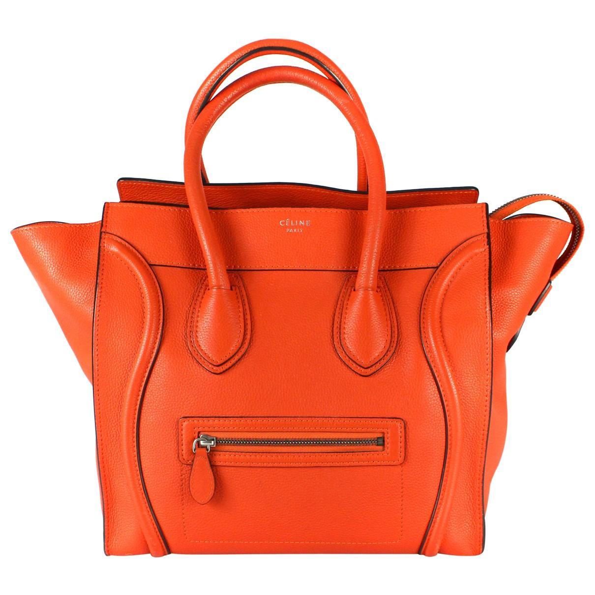 263af9fbc7 Céline Pre-owned Luggage Phantom Leather Tote in Orange - Lyst