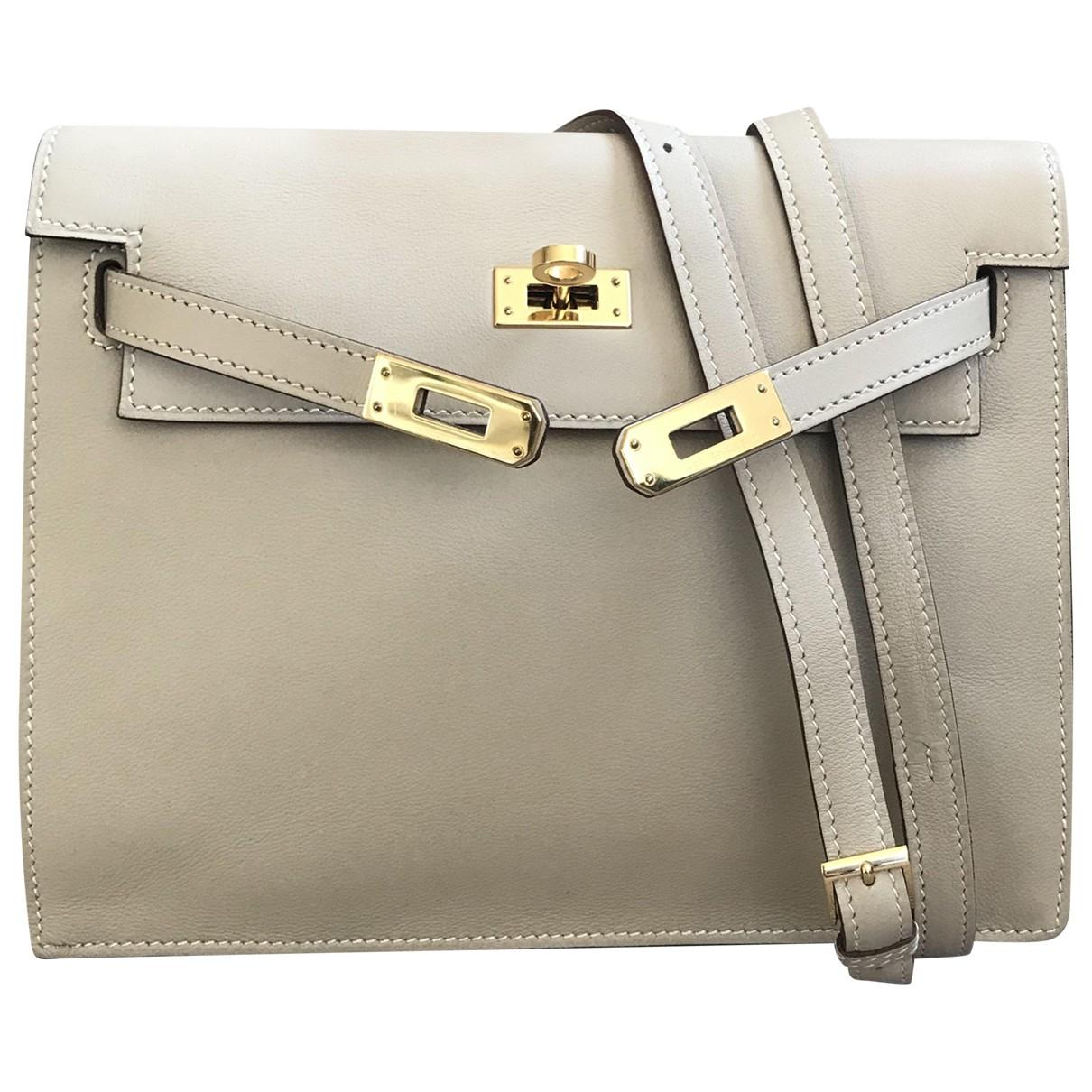 38c6d6054335 Hermès Pre-owned Kelly Danse Leather Crossbody Bag in Natural - Lyst
