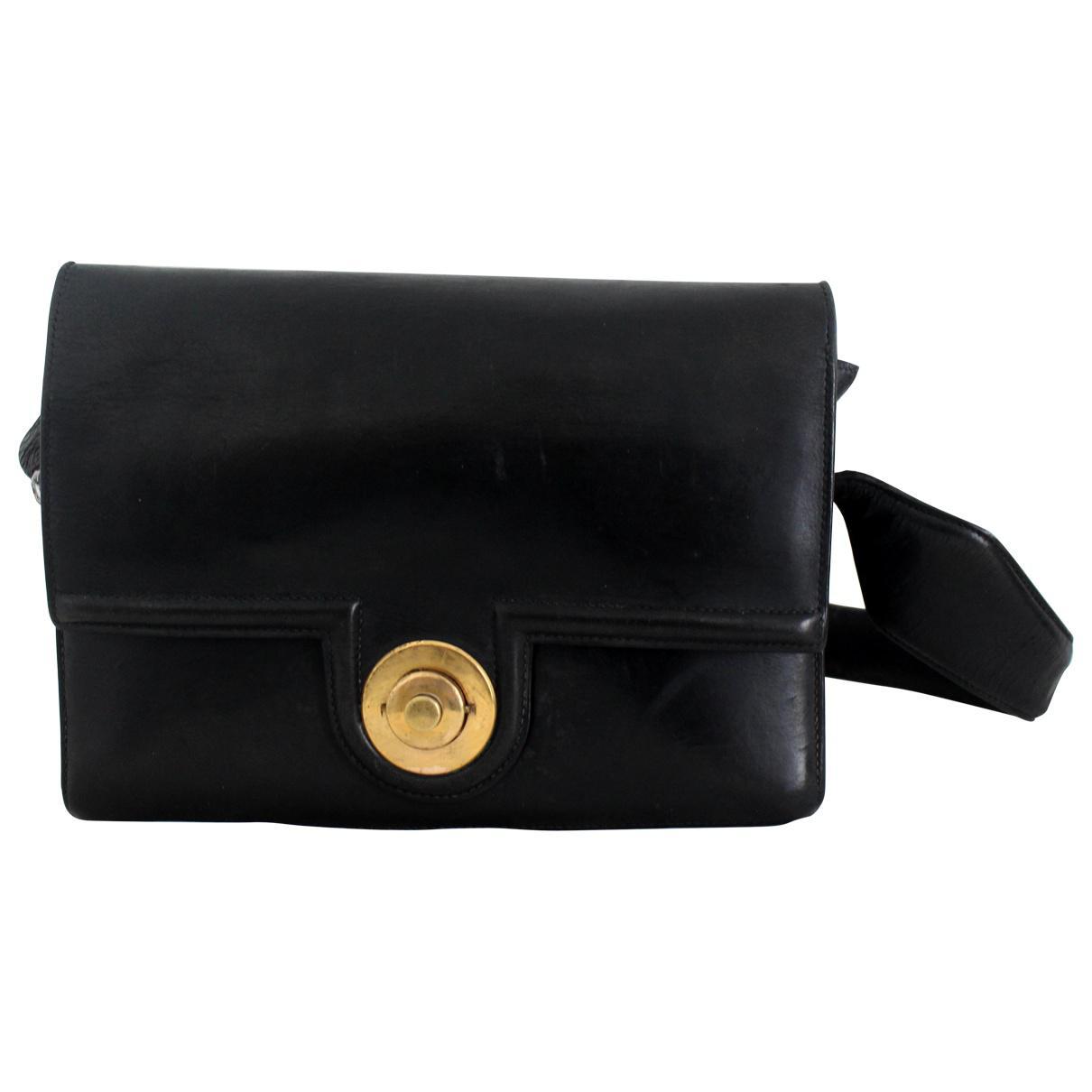 10100fbb99 Lyst - Sac bandoulière en cuir Hermès en coloris Noir