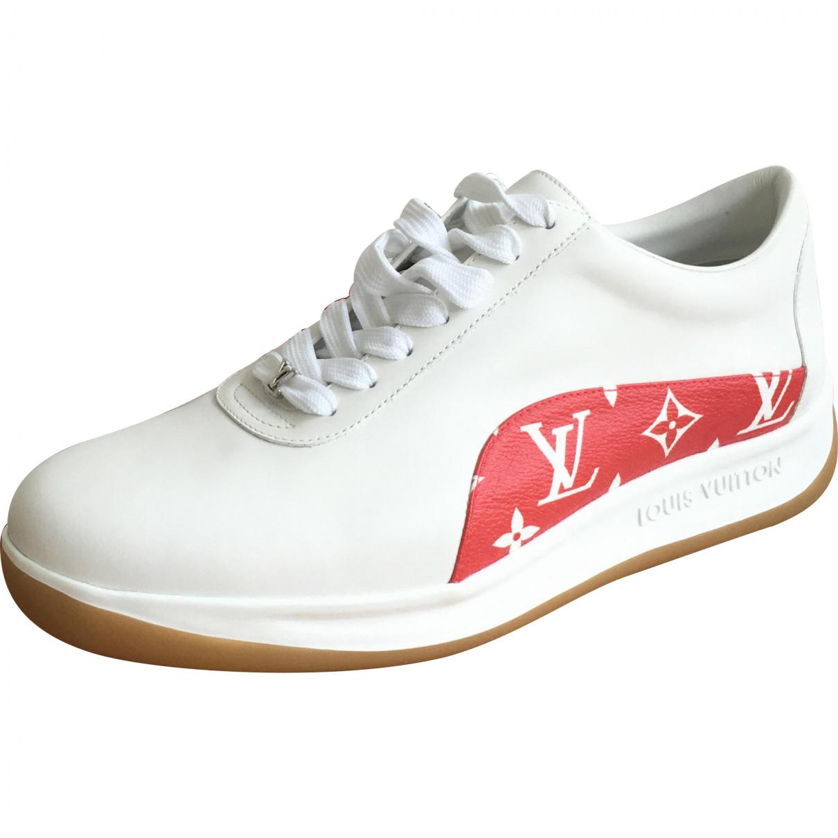 472ed26a721a Louis Vuitton White Leather Trainers in White for Men - Lyst