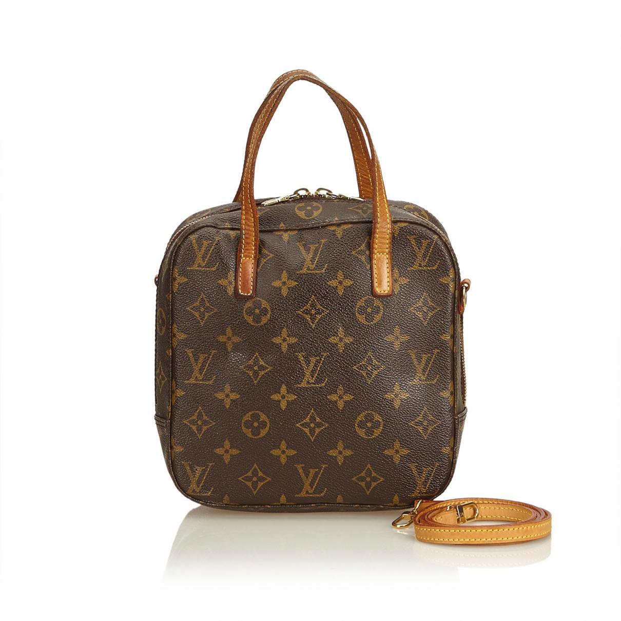 e57df2c6e08 Lyst - Cartable Spontini en toile Louis Vuitton en coloris Marron