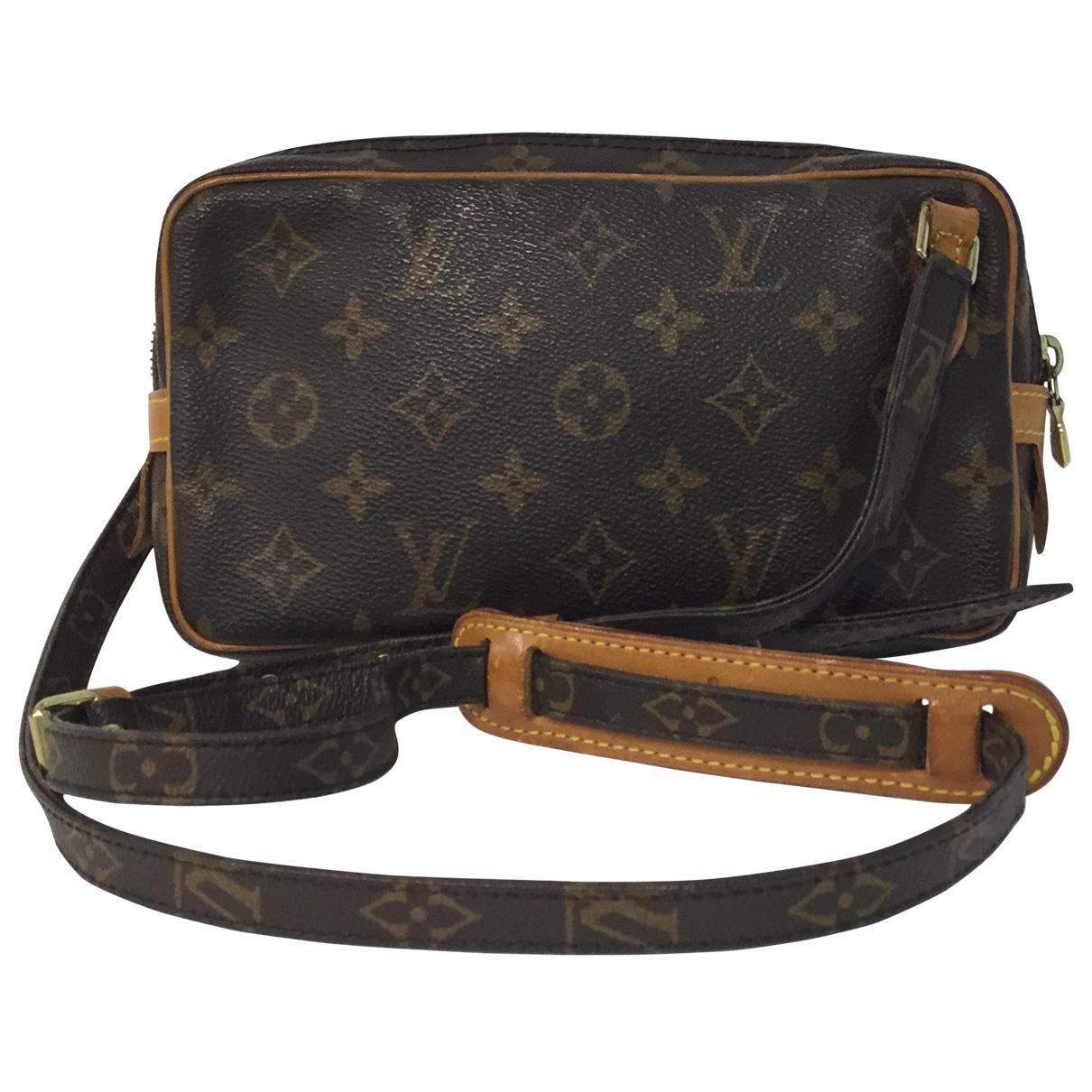 8e0275b1a243 Louis Vuitton Marly Cloth Crossbody Bag in Brown - Lyst