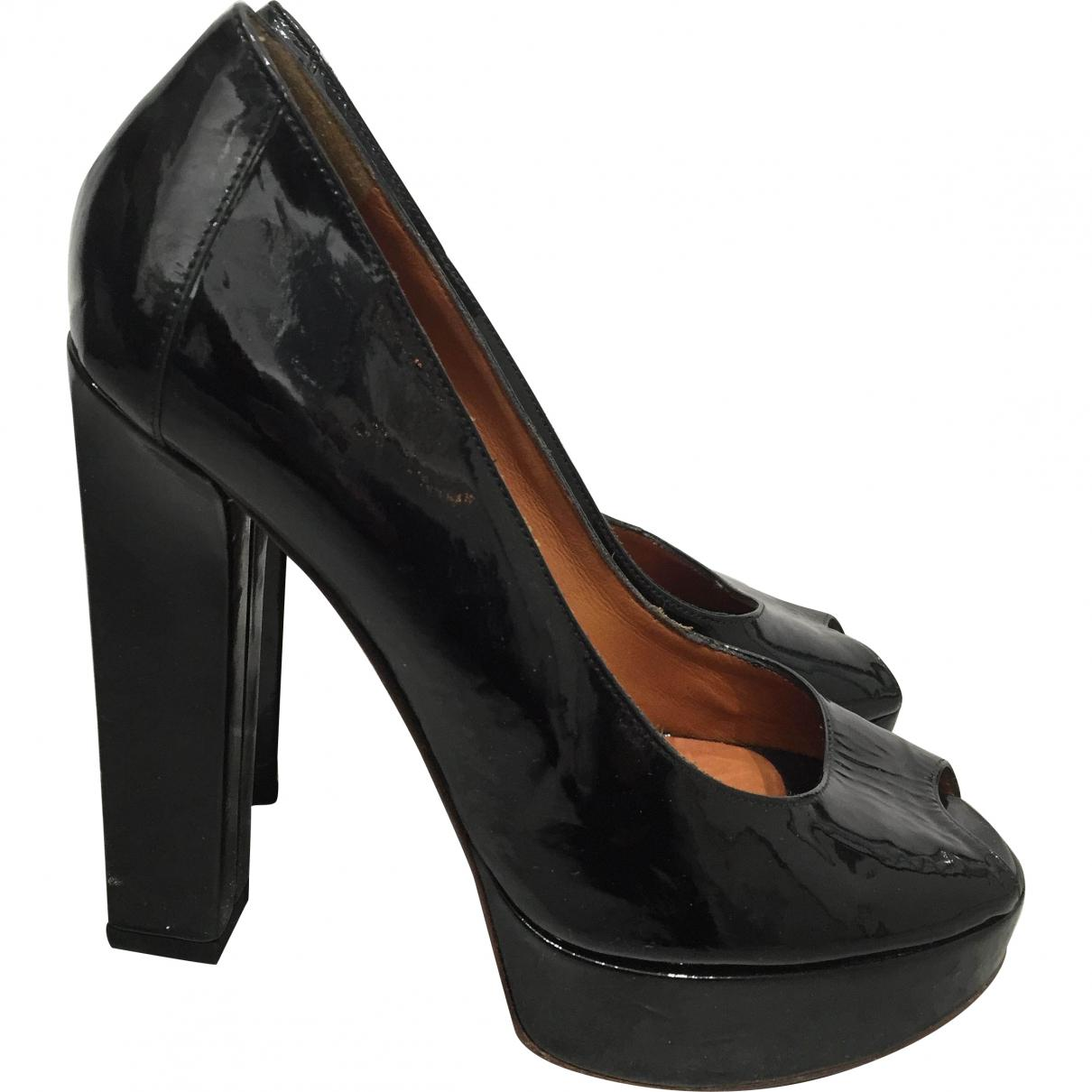 Pre-owned - Black Leather Heels Lanvin hTJ6eBRfX