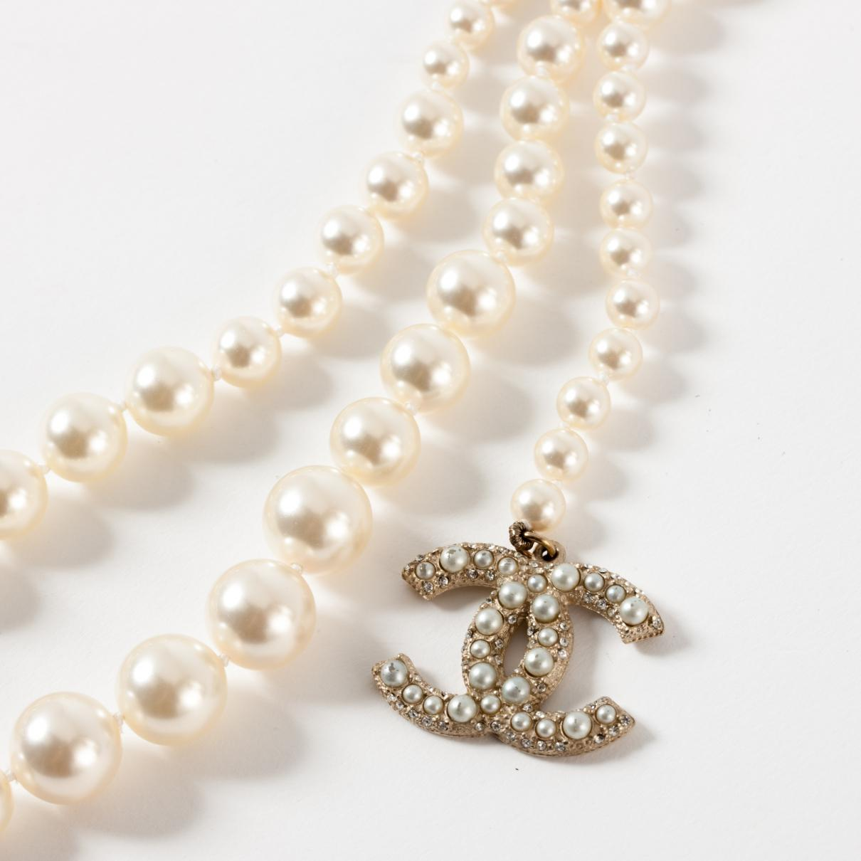 Chanel - White Ceinture en perles - Lyst. Afficher en plein écran fd3e9789c35