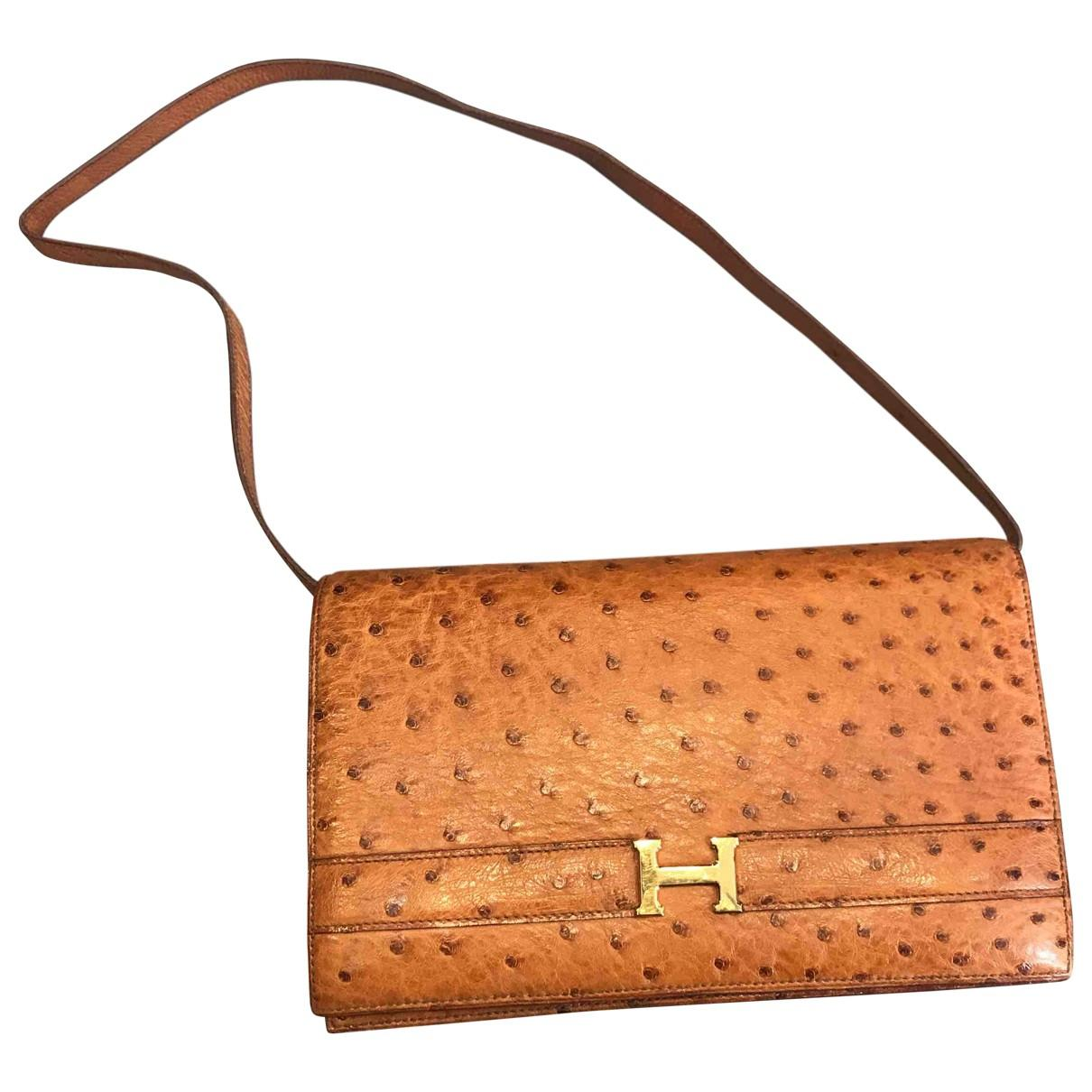 84069f28a826 Hermès. Women s Brown Ostrich Crossbody Bag. £2
