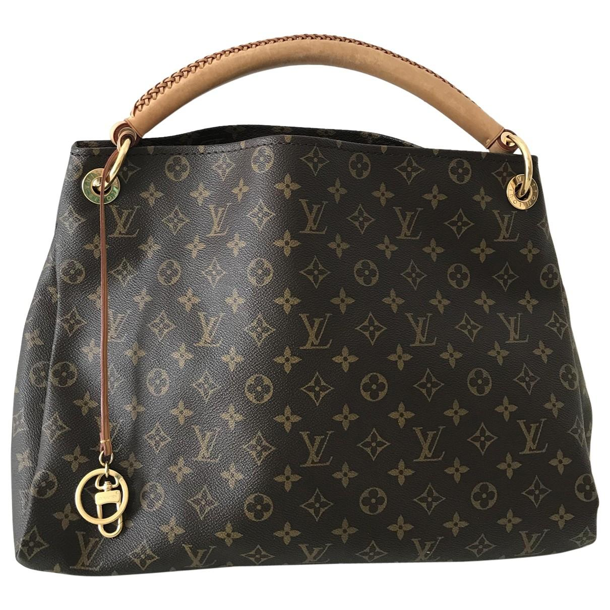61e8df9971e8 Lyst - Louis Vuitton Pre-owned Artsy Other Cloth Handbags in Black