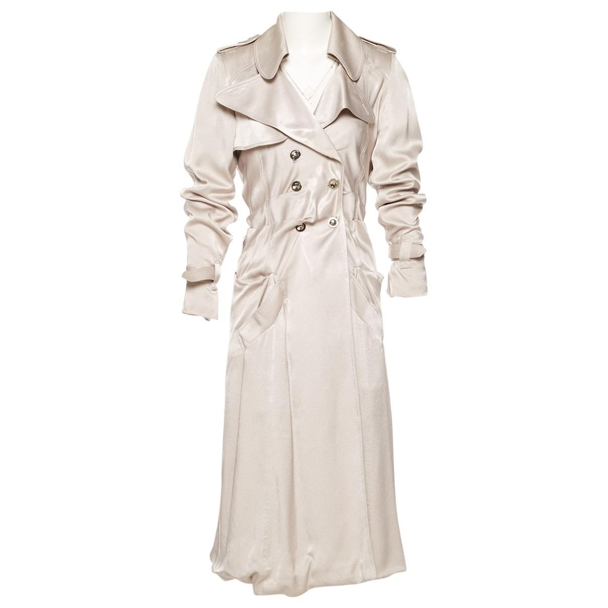 4eed01b9384fe Dior Vintage Metallic Silk Trench Coat in Metallic - Lyst