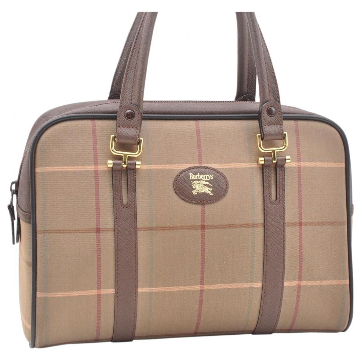 103fdeb04b0a Burberry. Women s Natural Pre-owned Vintage Beige Cloth Handbag. £174 From Vestiaire  Collective