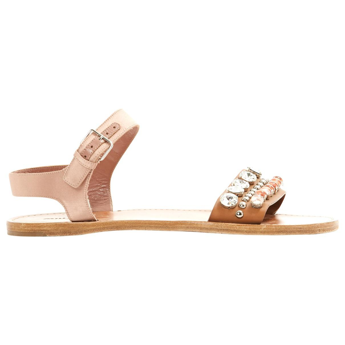 Pre-owned - Leather sandal Miu Miu SKTfEZvWF