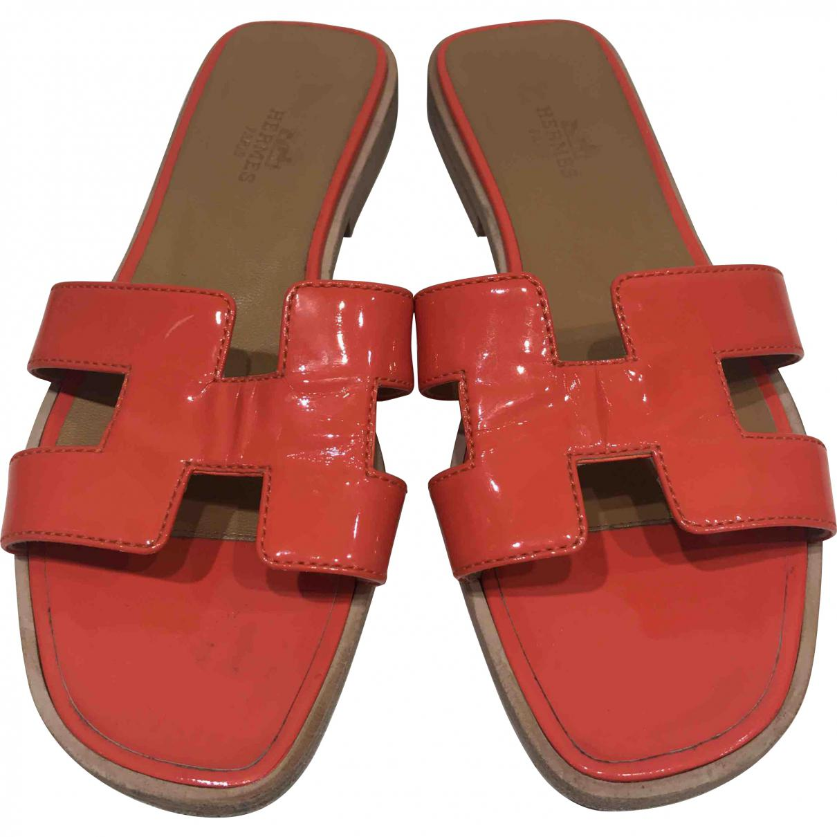 Pre-owned - Patent leather sandals Herm Free Shipping Nicekicks Hot Outlet Factory Outlet z8kEsOpZC