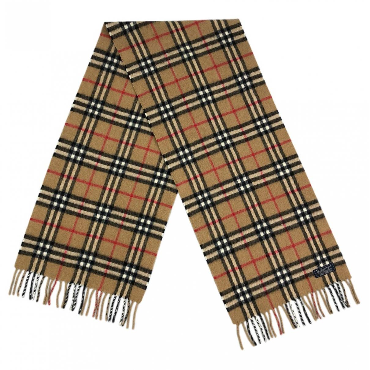 ea8a197a7429 Burberry. Women s Natural Pre-owned Vintage Beige Cashmere Scarves. £137  From Vestiaire Collective