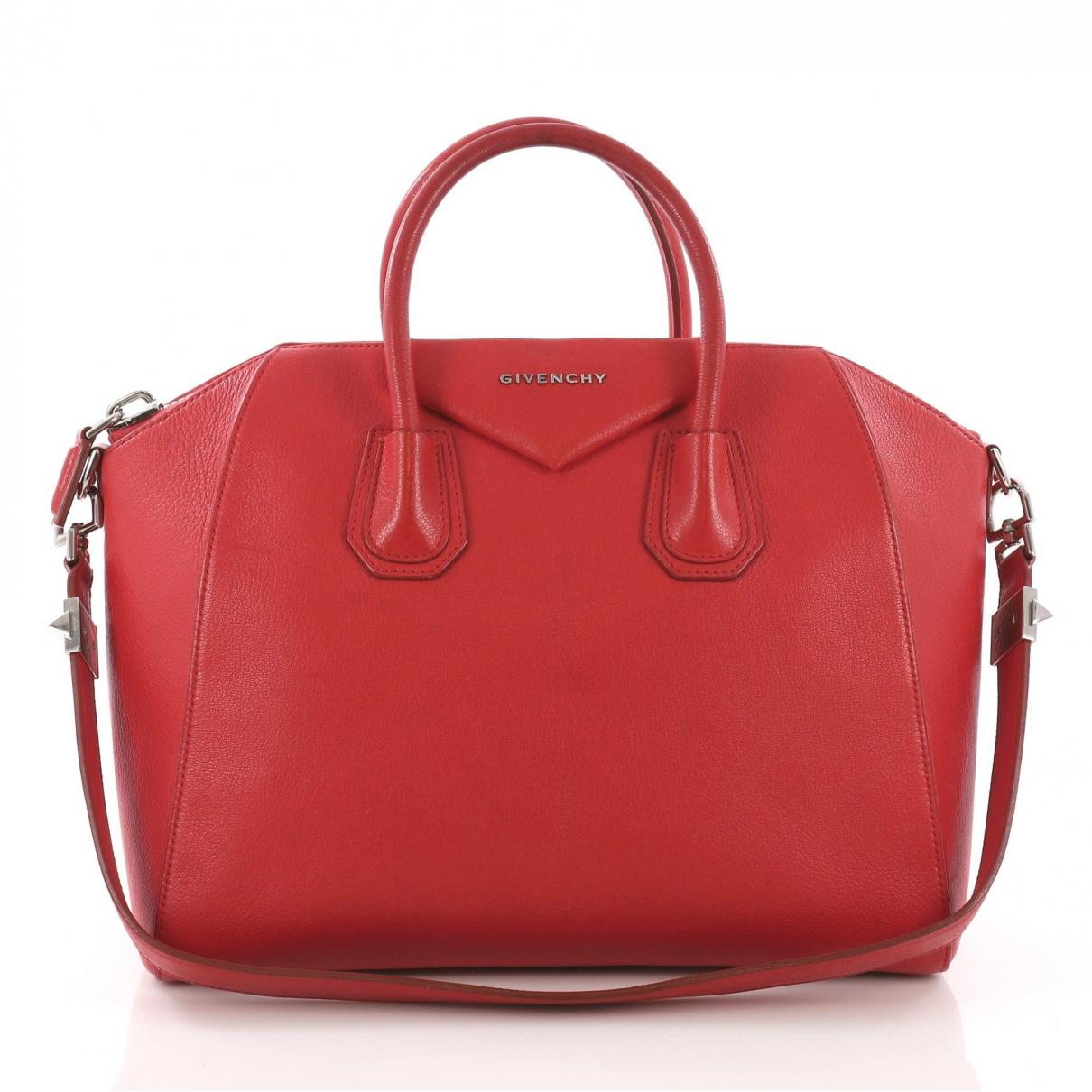 3312731df6 Givenchy - Pre-owned Antigona Red Leather Handbags - Lyst. View fullscreen