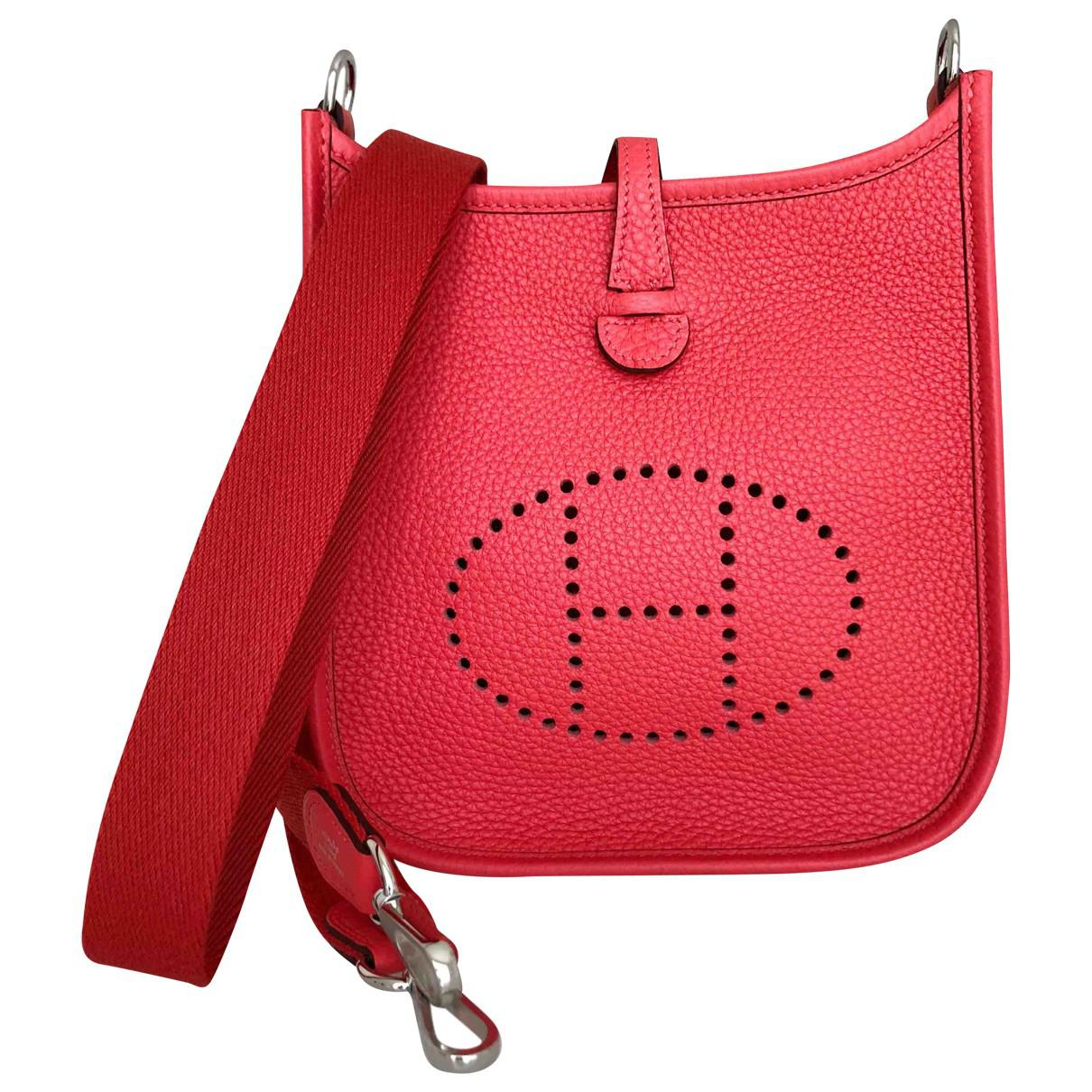 ede06628fba0 Lyst - Hermès Evelyne Leather Crossbody Bag in Red