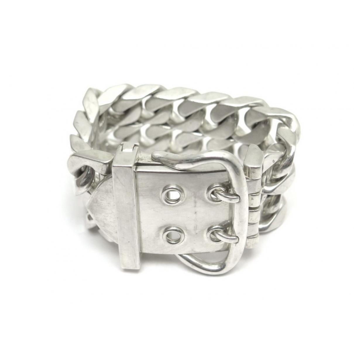 Hermès Ceinture Silver Silver Bracelets in Metallic - Lyst a1158462cc3
