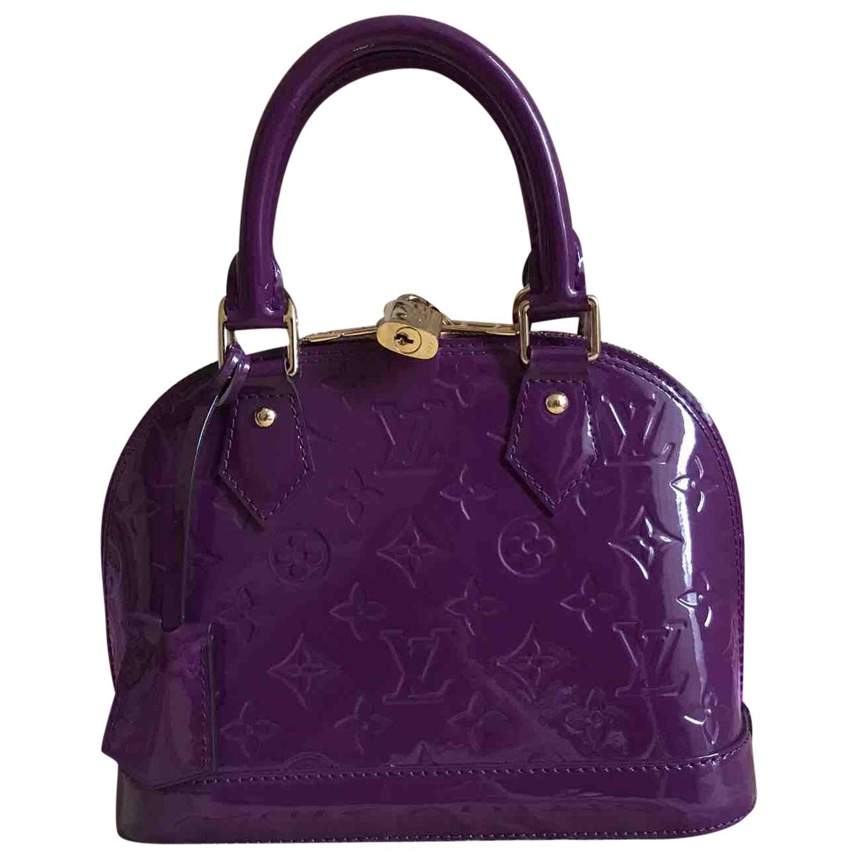Louis Vuitton Women S Alma Bb Purple Patent Leather Handbag
