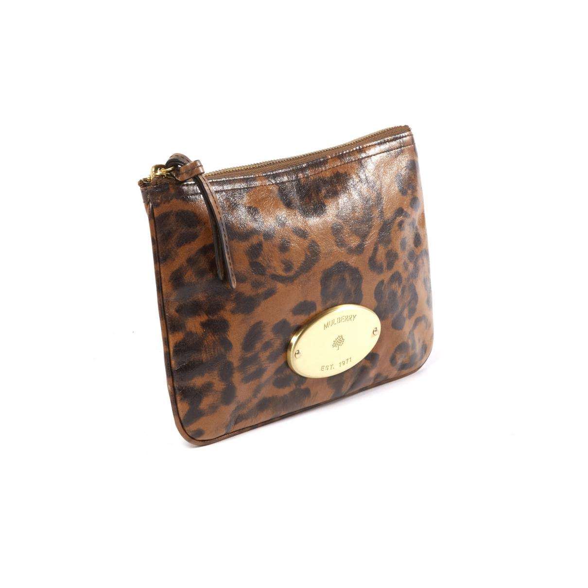 Mulberry - Pre-owned Brown Leather Clutch Bags - Lyst. View fullscreen 91170da77d122
