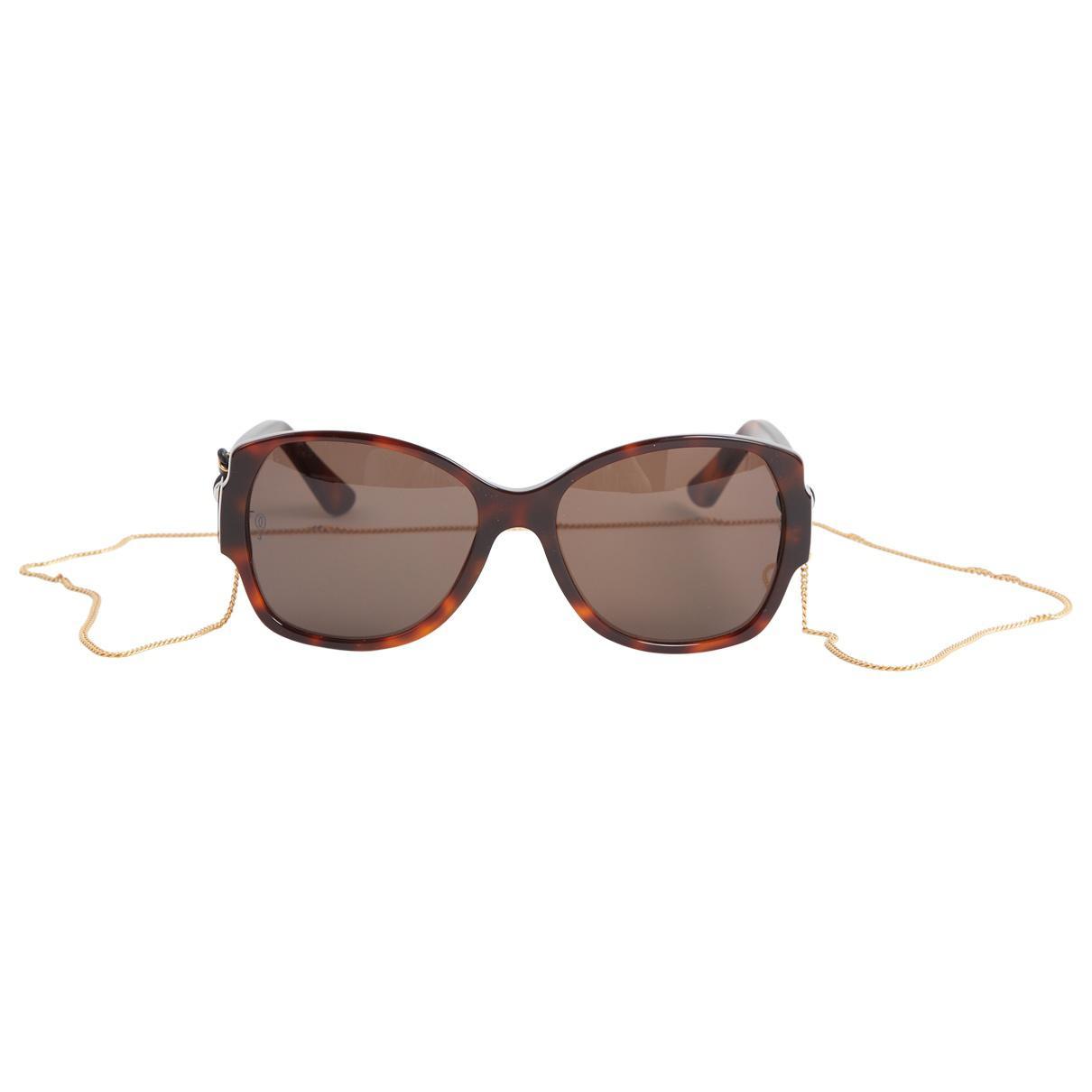 d453d568e09d Lyst - Cartier Sunglasses in Brown