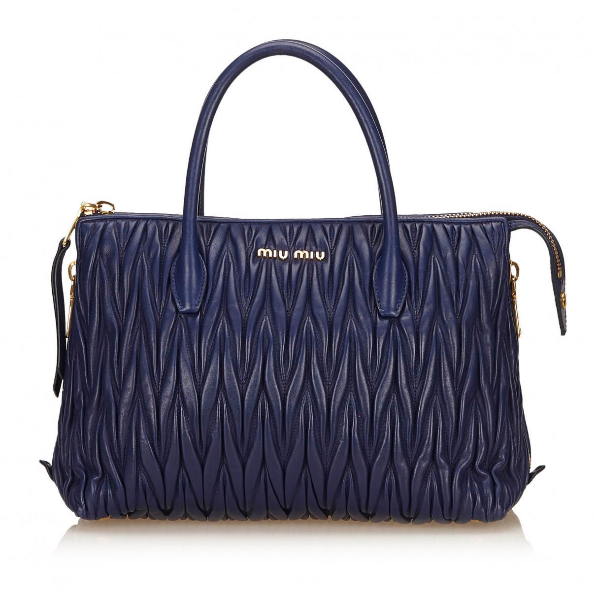 Pre-owned - Blue Leather Handbag Miu Miu sl1CDs