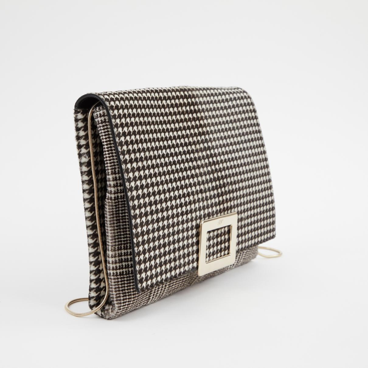 be11c2e60df2 Roger Vivier Pony-style Calfskin Clutch Bag in Black - Lyst