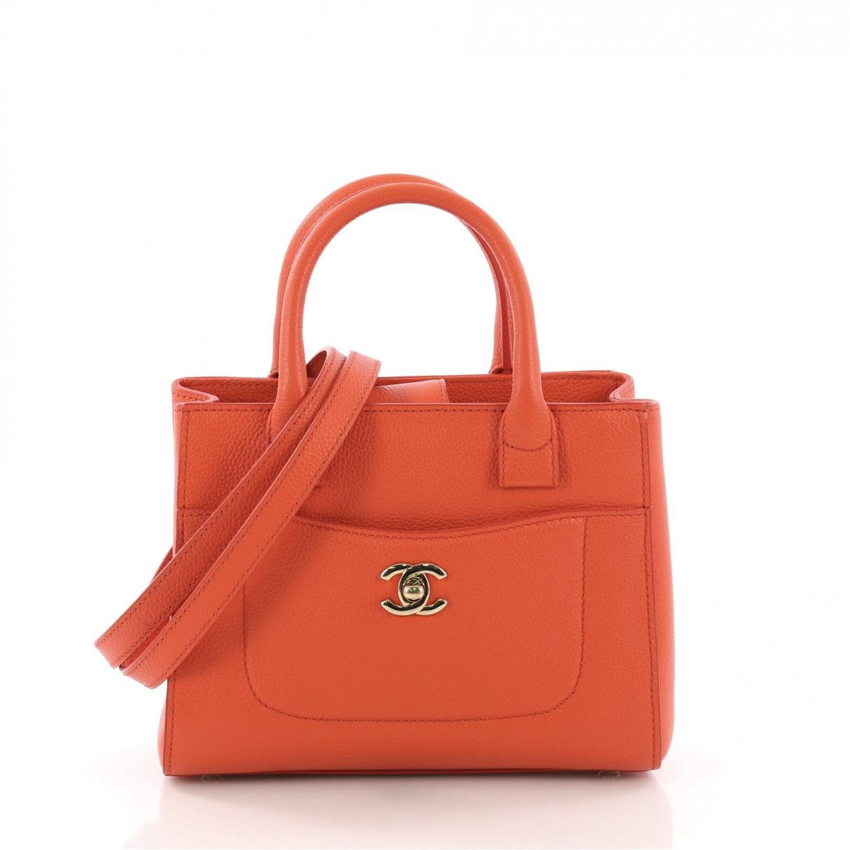 a3cfd7bb3727 Lyst - Chanel Executive Orange Leather Handbag in Orange