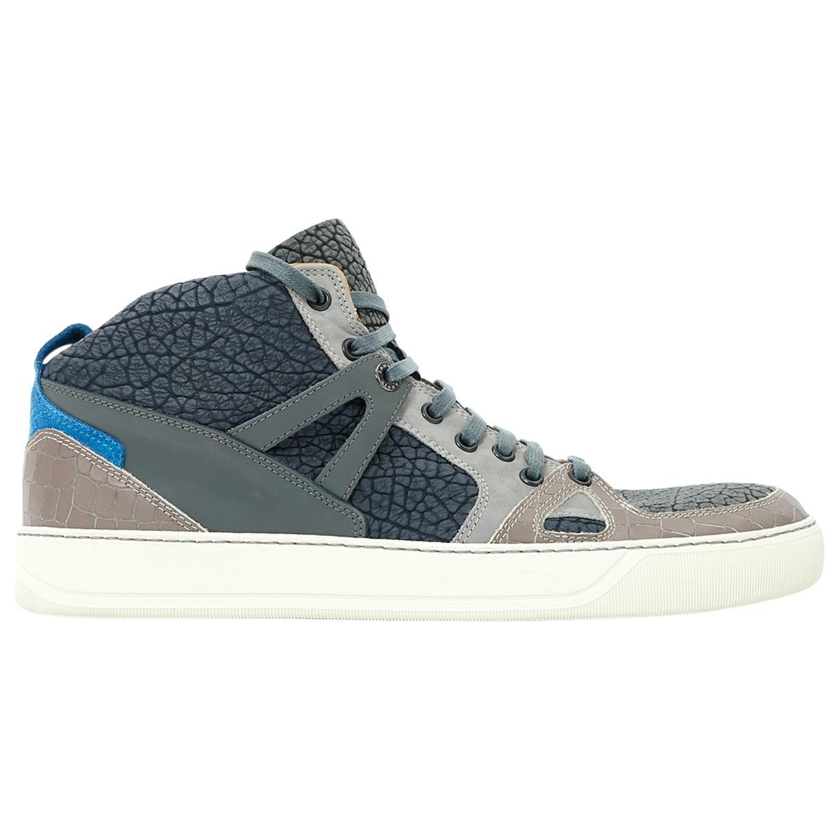 Pre-owned - Leather high trainers Lanvin lULzr