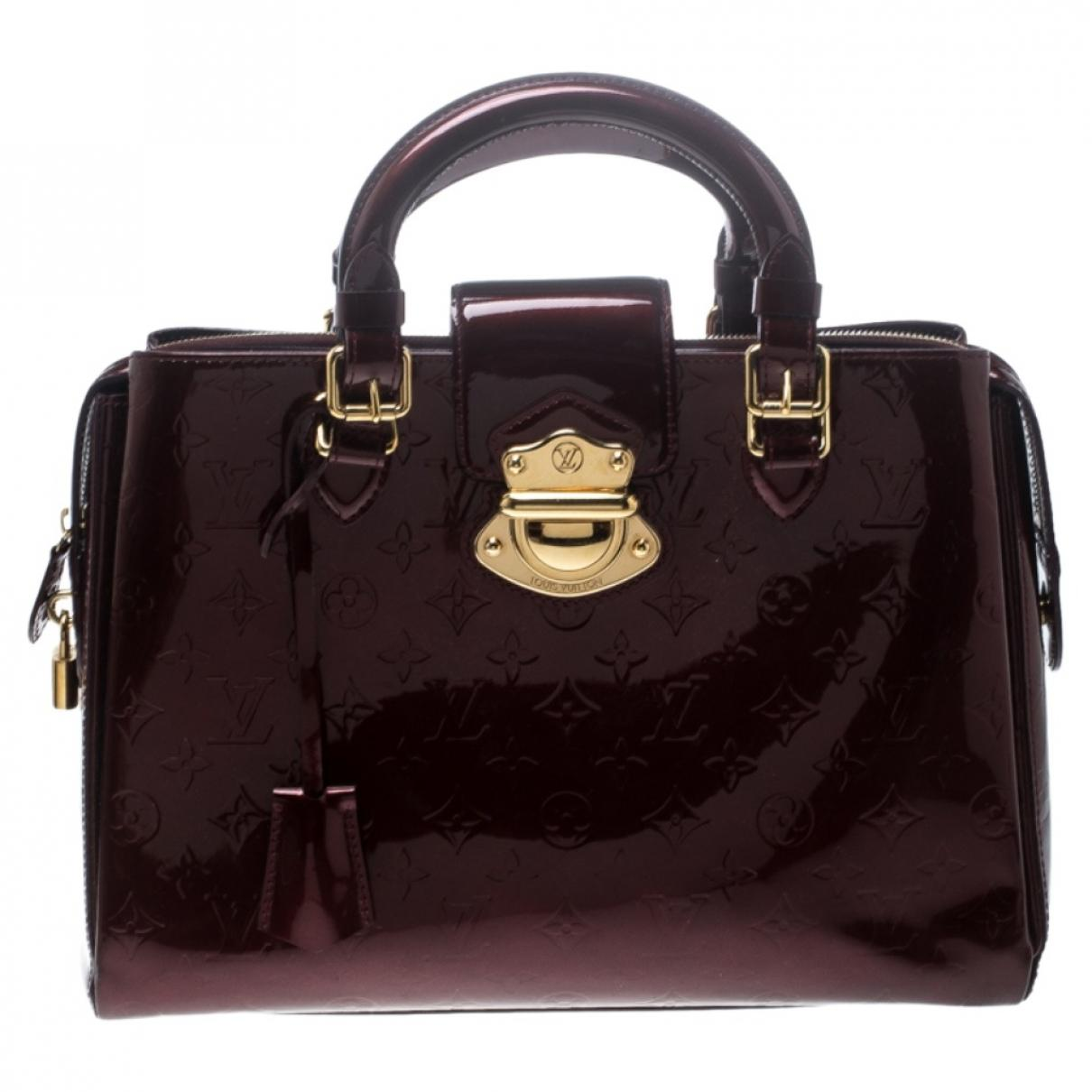 05e9ed90a264 Lyst Louis Vuitton Pre Owned Burgundy Patent Leather Handbags