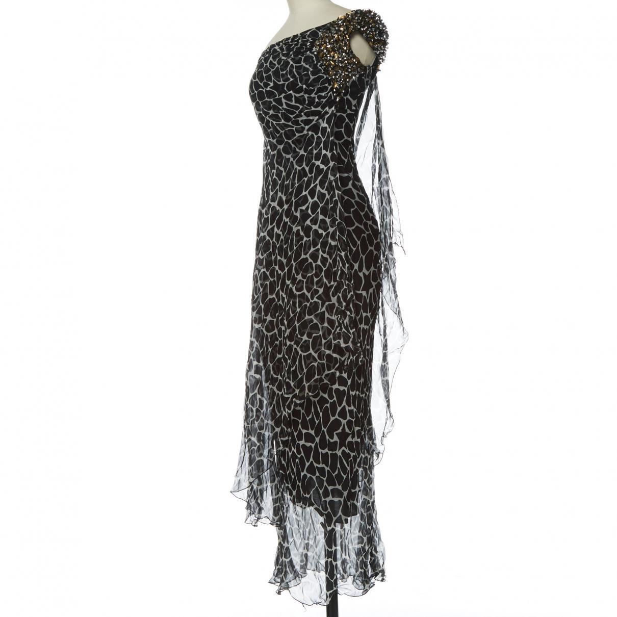 f29d4a086b0 Philipp Plein - Black Silk Dress - Lyst. View fullscreen