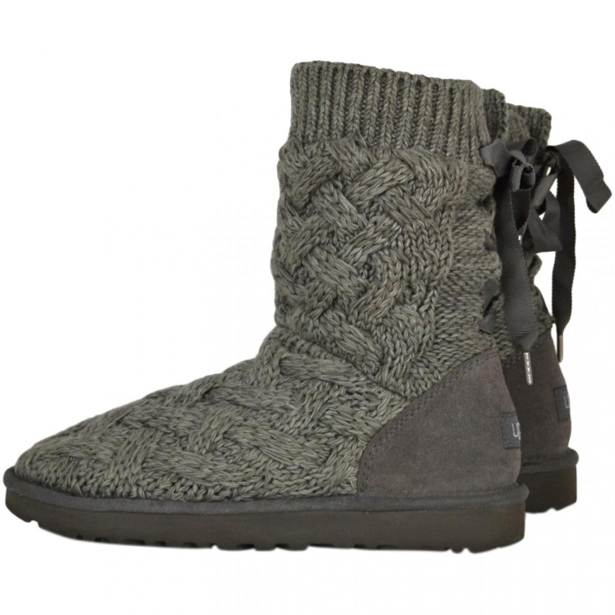 54ea85c524e UGG Cloth Boots in Gray - Lyst